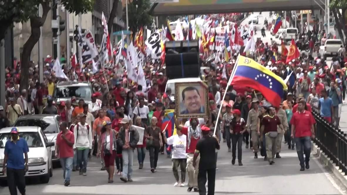 Venezuela: Simpatizantes de Maduro inundan las calles de Caracas