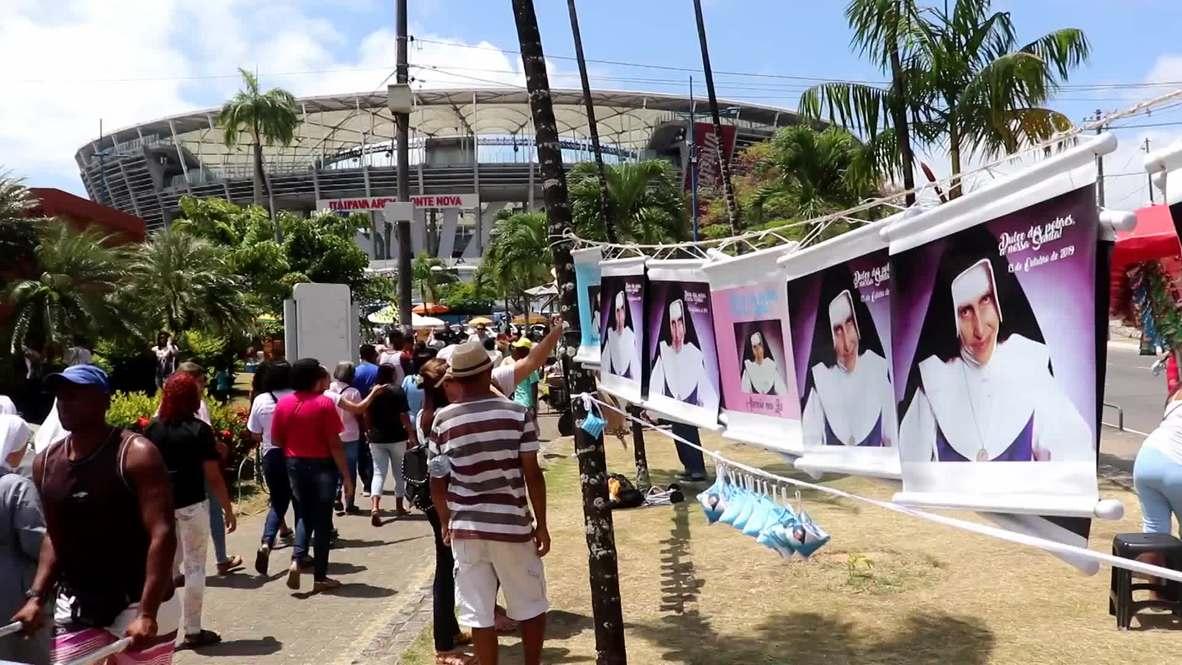 Brazil: Thousands of Catholics celebrate canonisation of first Brazilian-born female saint