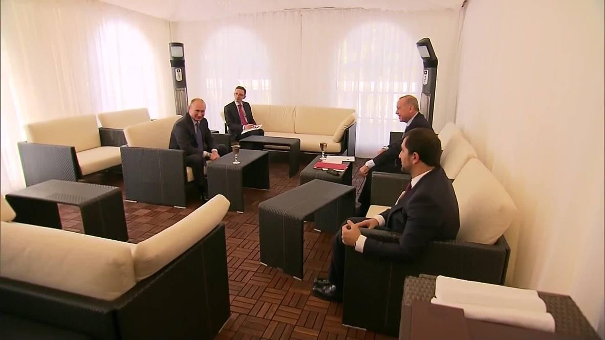 روسيا: بوتين يعقد اجتماعا مغلقا مع أردوغان في سوتشي