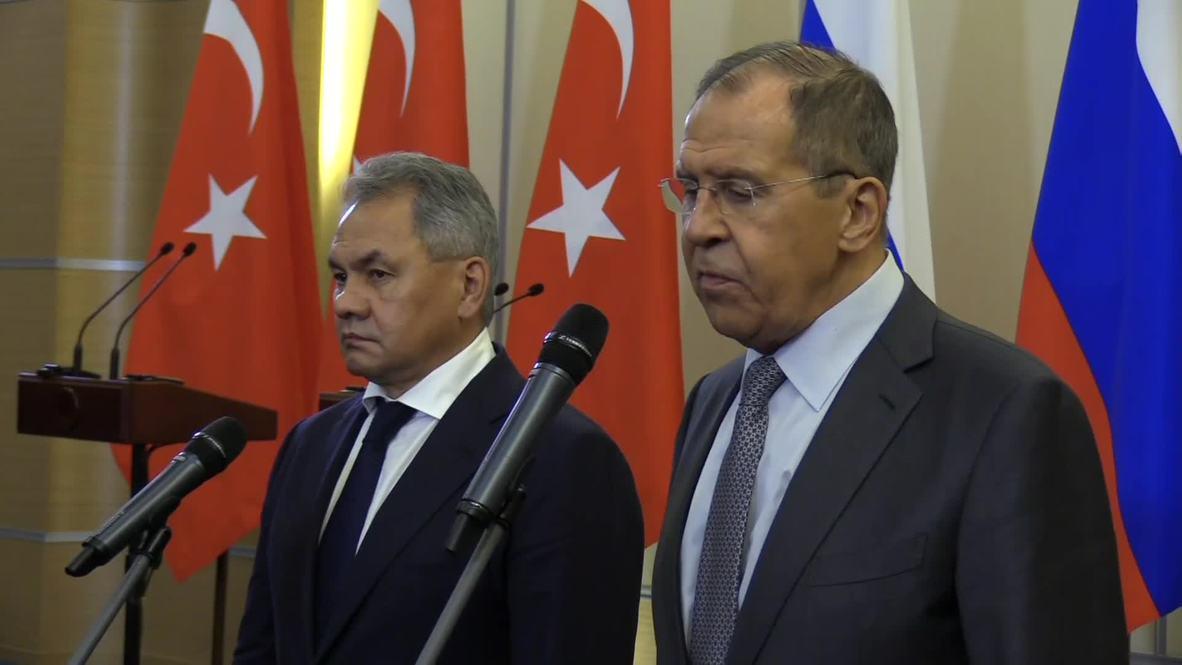 روسيا: لافروف يقول إن الاتفاق التركي الروسي بشأن سوريا يضمن وقف سفك الدماء