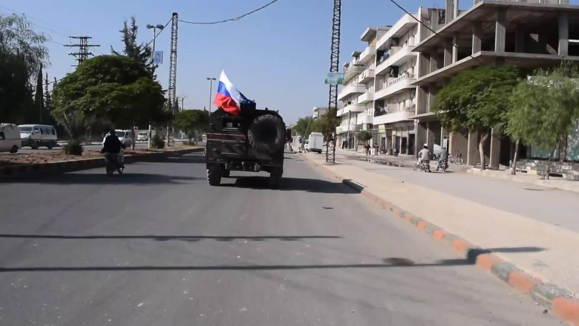 Сирия: Российские военные патрулируют сирийский Манбидж в рамках российско-турецких договоренностей