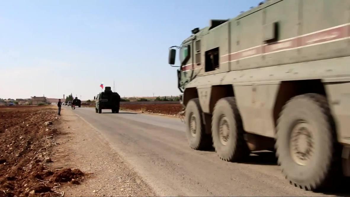 Сирия: Колонна военной полиции РФ прибыла в Кобани после российско-турецких переговоров