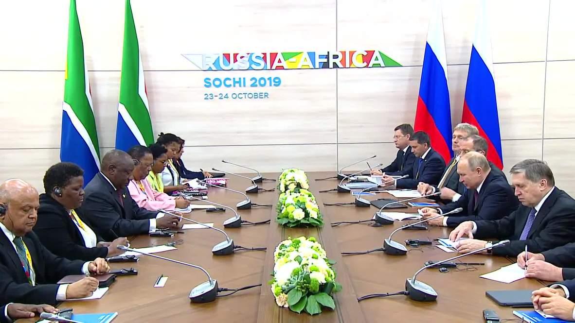 روسيا: بوتين يلتقي رامافوزا وقادة أفارقة آخرين في القمة الروسية - الإفريقية الأولى