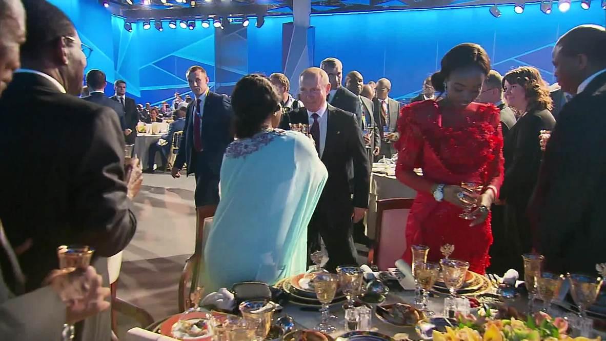 Россия: Путин поднял тост за присутствующих на форуме в Сочи глав делегаций стран Африки