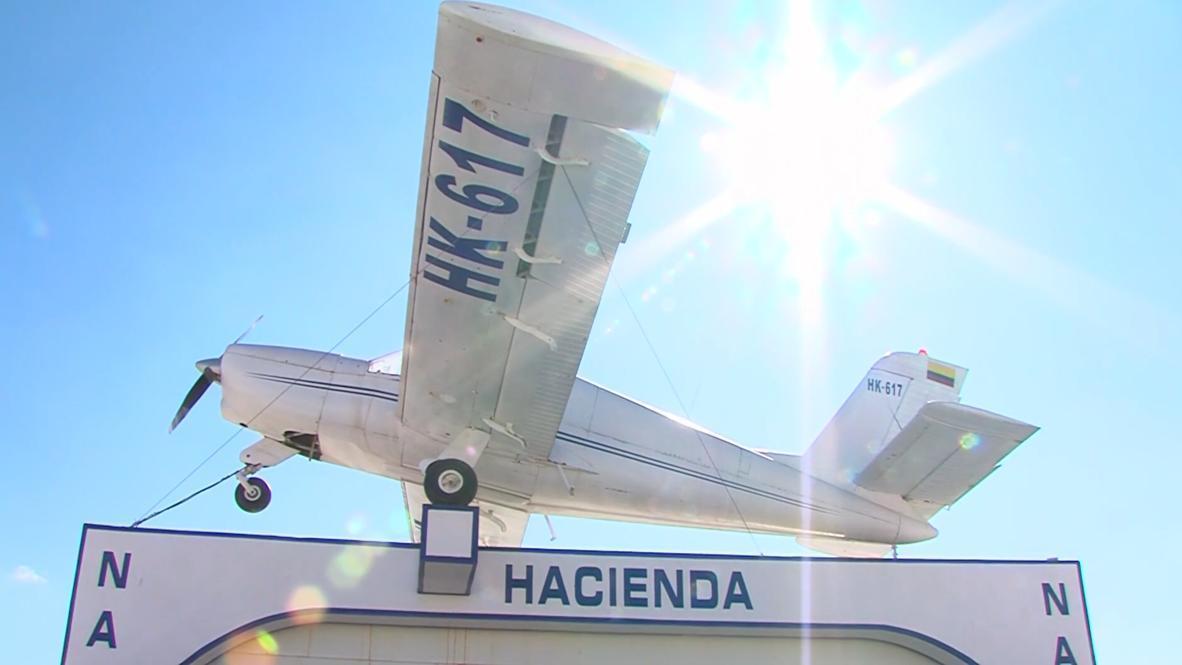 España: Presunto narcotraficante reproduce la entrada de la mansión de Pablo Escobar en Granada