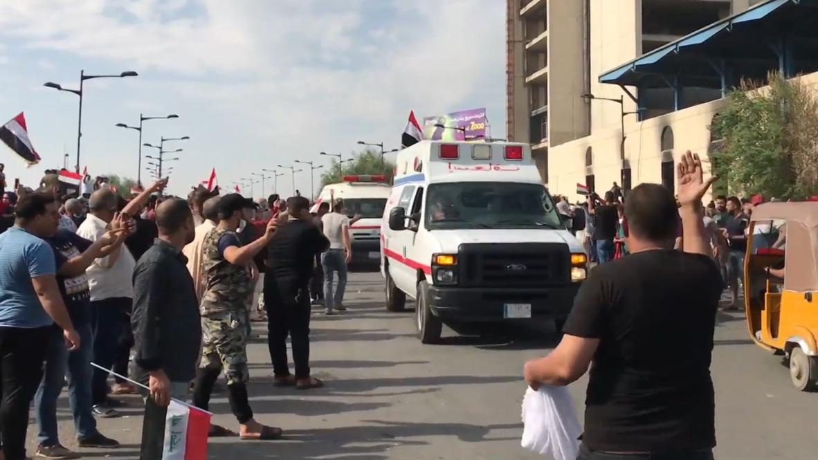العراق: متظاهرون ضد الحكومة يحاولون الوصول إلى المنطقة الخضراء في بغداد