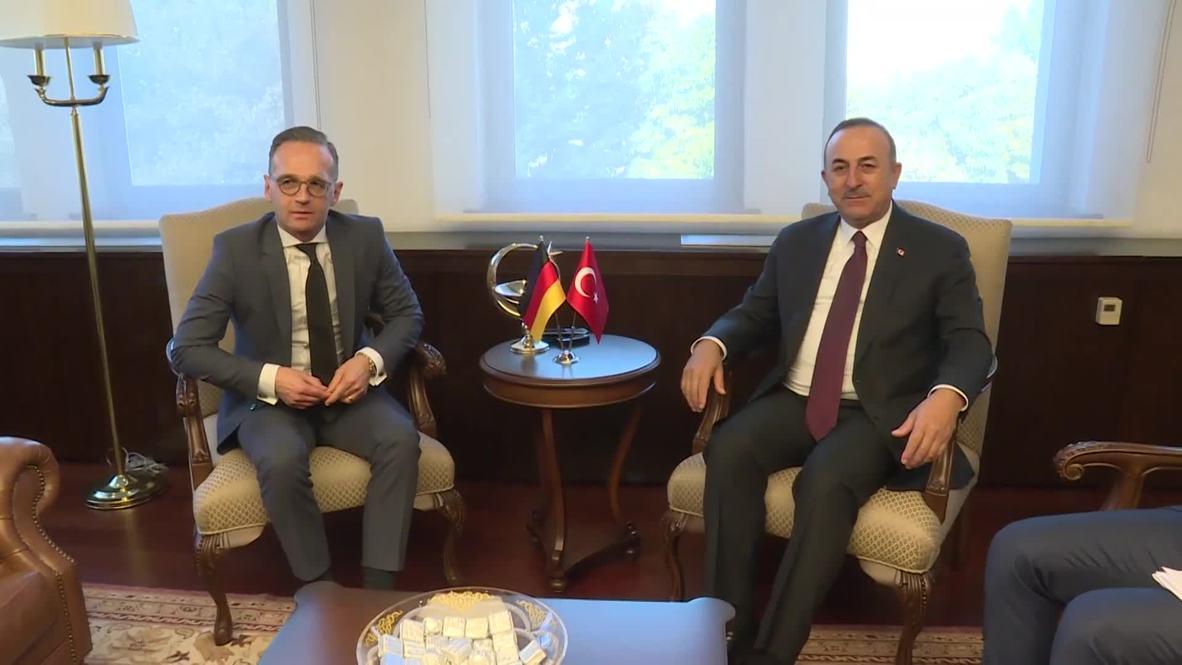 Turquía: Cancilleres de Alemania y Turquía se reúnen para discutir el conflicto en Siria