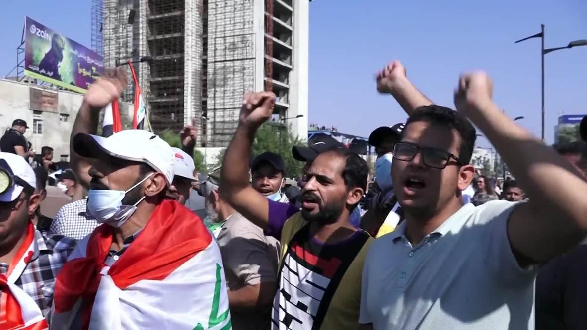 العراق: جرح العشرات مع استمرار التظاهرات المناهضة للحكومة في بغداد