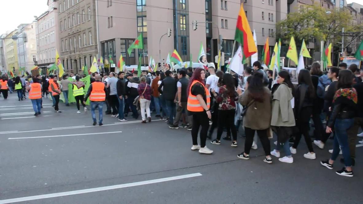 Alemania: Cientos de personas marchan en Stuttgart contra la ofensiva turca en Siria