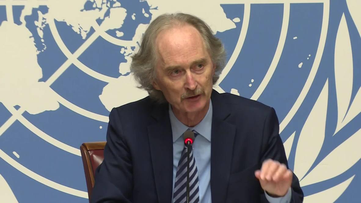 Suiza: ONU se reunirá con ministros de Asuntos Exteriores de Rusia, Turquía e Irán