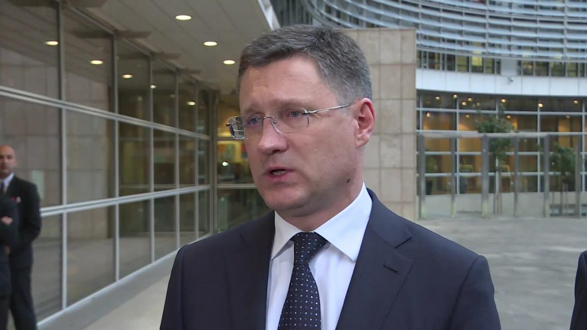 """Бельгия: """"Мы продолжим наше взаимодействие"""" - Новак по итогам переговоров по транзиту газа"""