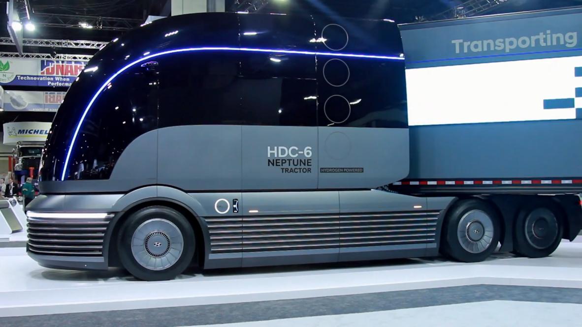 Hyundai presenta HDC-6 Neptune, su futurista camión Art Decó impulsado por hidrógeno