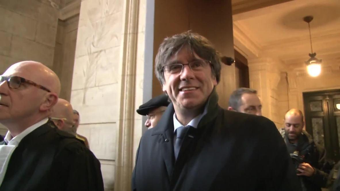Bélgica: El juez aplaza la vista de la 'euroorden' de Puigdemont hasta el 16 de diciembre