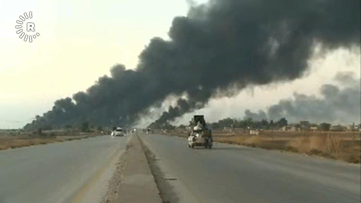 Siria: Nubes de humo se elevan en Tal Tamr tras la ofensiva de las fuerzas apoyadas por Turquía
