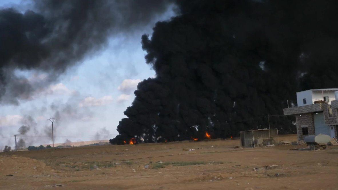 Siria: Residente huyen de Tal Tamr mientras continúa la ofensiva de las fuerzas apoyadas por Turquía