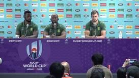 """Japón: Sudáfrica determinada a convertir la presión en """"energía"""" para la final ante Inglaterra"""