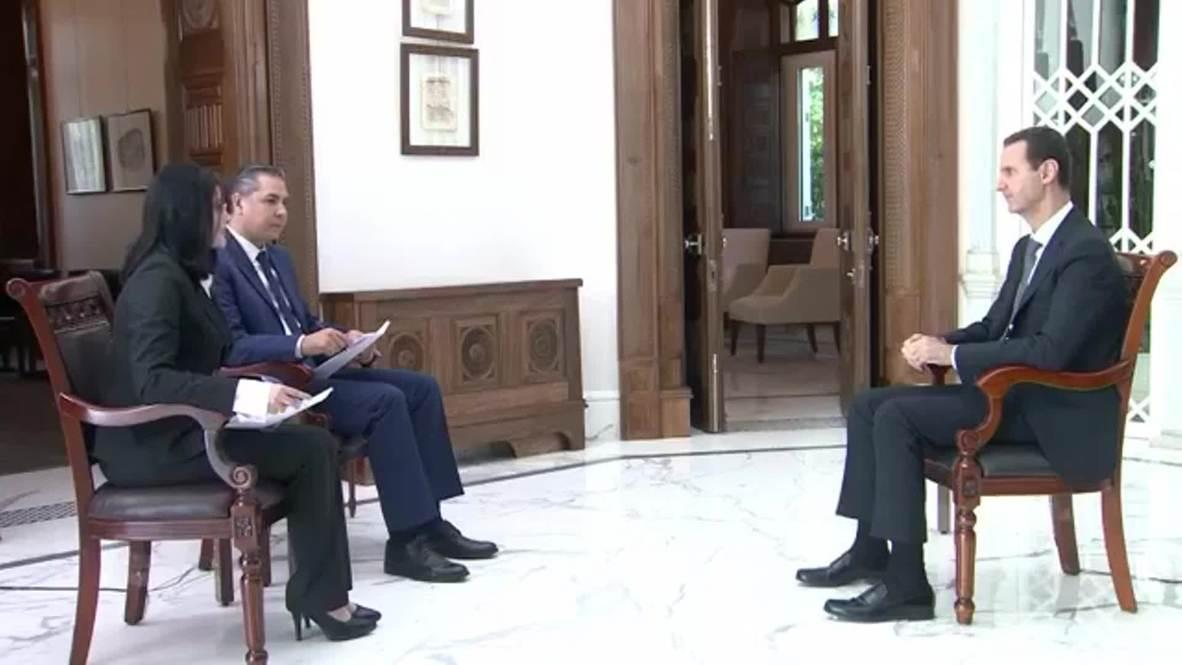 """Siria: Assad llama """"ladrón"""" a Erdogan durante una entrevista en la televisión Estatal"""