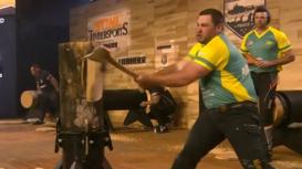 República Checa: Equipo australiano se lleva el título en el mundial de deportes madereros