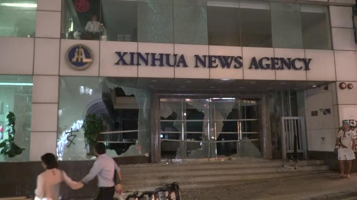 Hong Kong: Manifestantes atacan las oficinas de la agencia china Xinhua