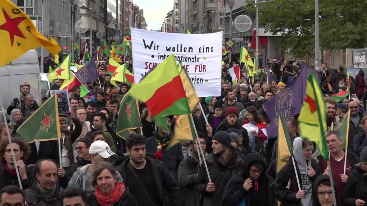 Germany: Kurdish community protest Turkish military operation in northern Syria