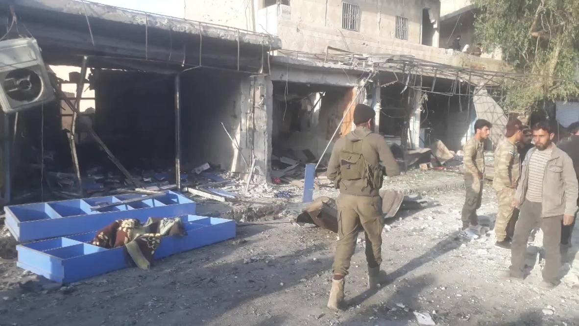 Syria: Car bomb kills 13 in town on Turkish border