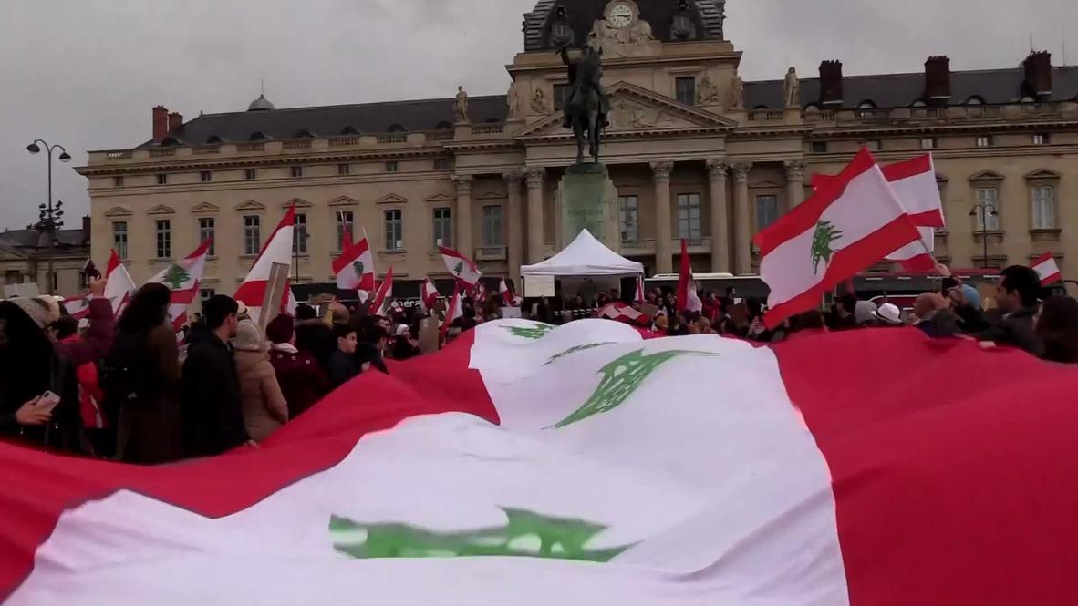 France: Lebanese diaspora rallies in Paris to support 'revolution'