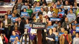 USA: Ilhan Omar endorses Sanders for president at Minneapolis rally