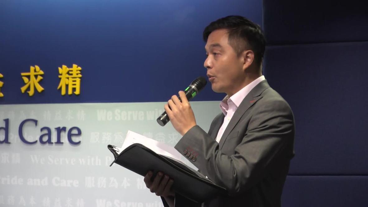 Hong Kong: Policía cancela la conferencia de prensa por la protesta de unos periodistas
