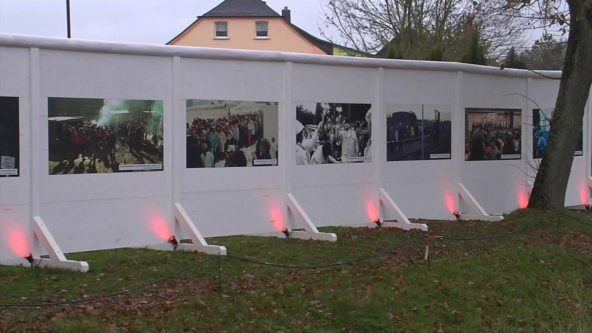 """ألمانيا: """"برلين الصغيرة"""" تعيد الجدار الذي قسم البلاد شطرين.. وتسقطه من جديد"""