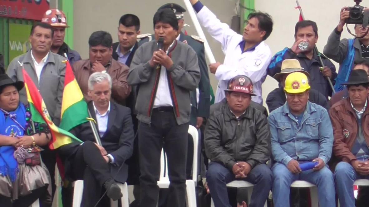 """Bolivia: Morales agradece a sus simpatizantes por su apoyo para luchar contra el """"golpe de Estado"""""""