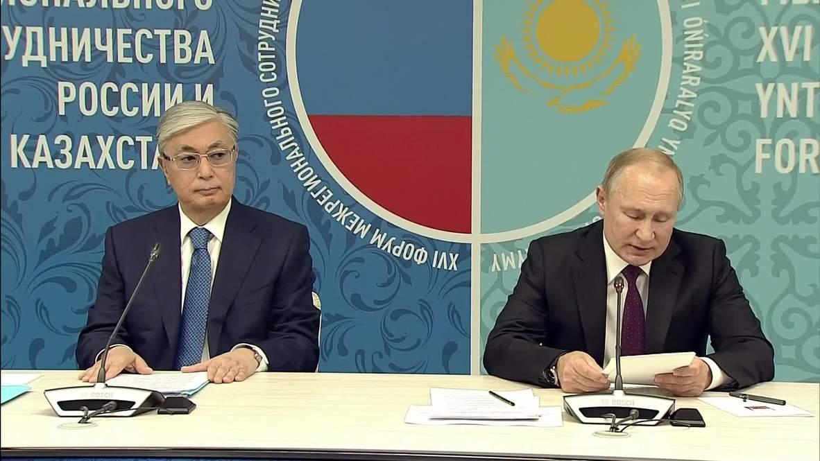 """Россия: """"Россия - крупнейший инвестор в казахстанскую экономику"""". Путин провел встречу с Токаевым"""
