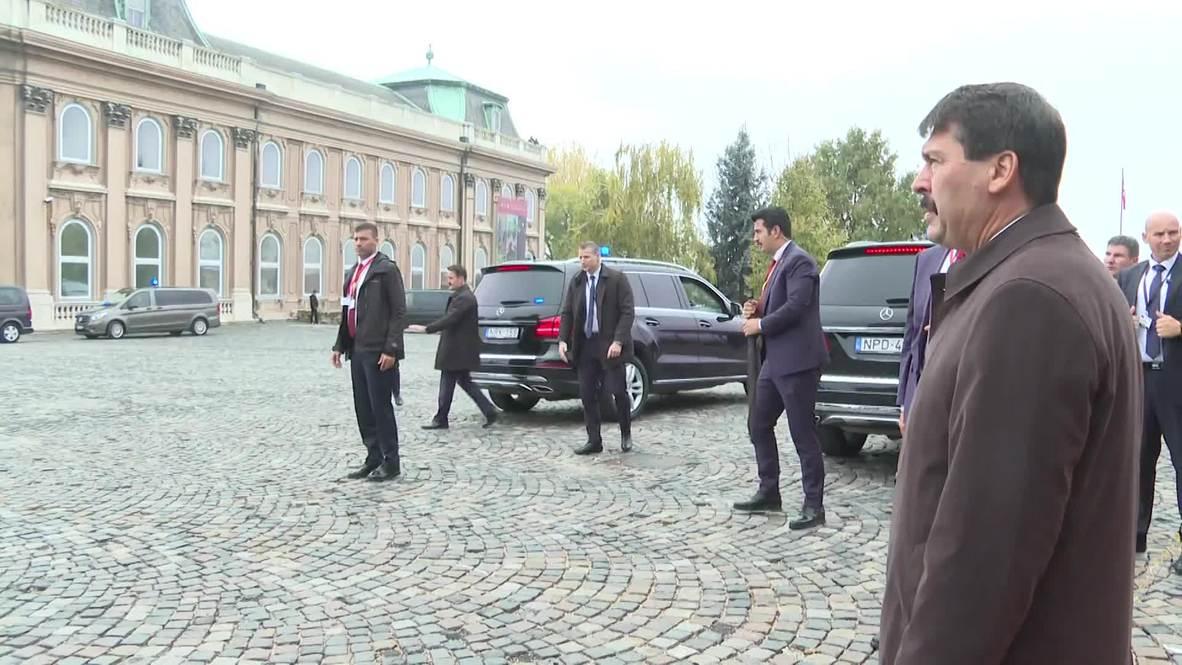 Hungary: Erdogan meets Hungarian President Ader in Budapest