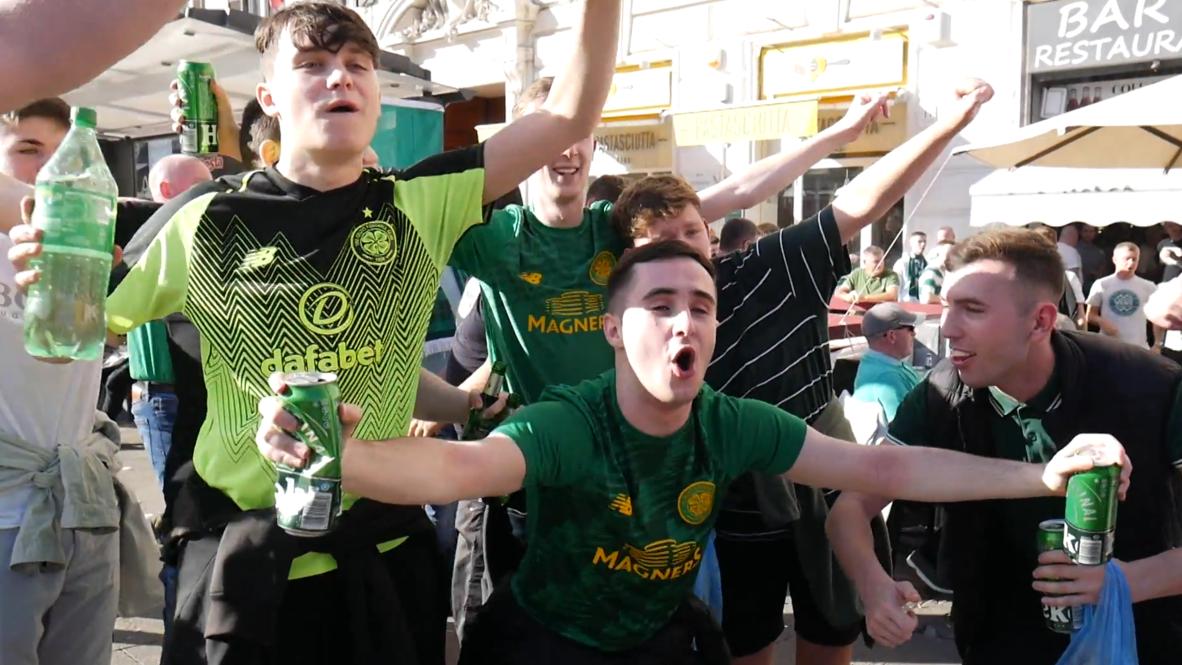 Italia: Policía se despliega en Roma antes del juego entre Lazio y Celtic