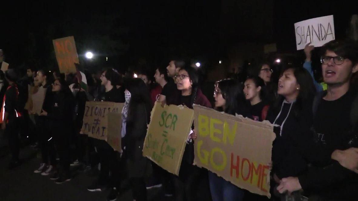 USA: Students protest Ben Shapiro's Stanford University speech