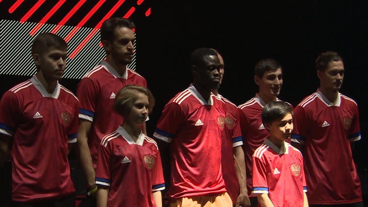 Россия: В Москве презентовали новую форму российской сборной для Евро-2020