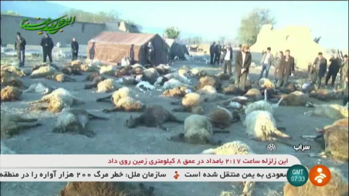 Iran: At least 5 dead, 300 injured after 5.9 quake hits East Azerbaijan Province