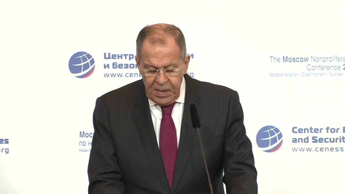 Russia: Lavrov slams Washington's 'absolutely unacceptable' Iran policy
