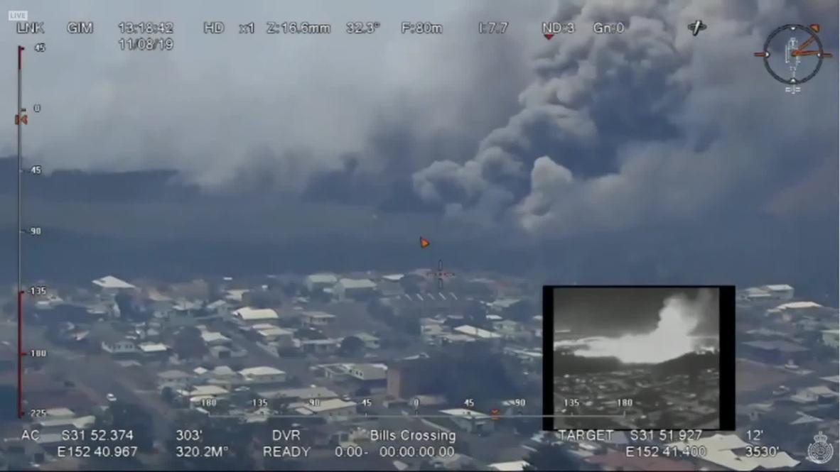 Australia: Emergency-level bushfires rage across New South Wales