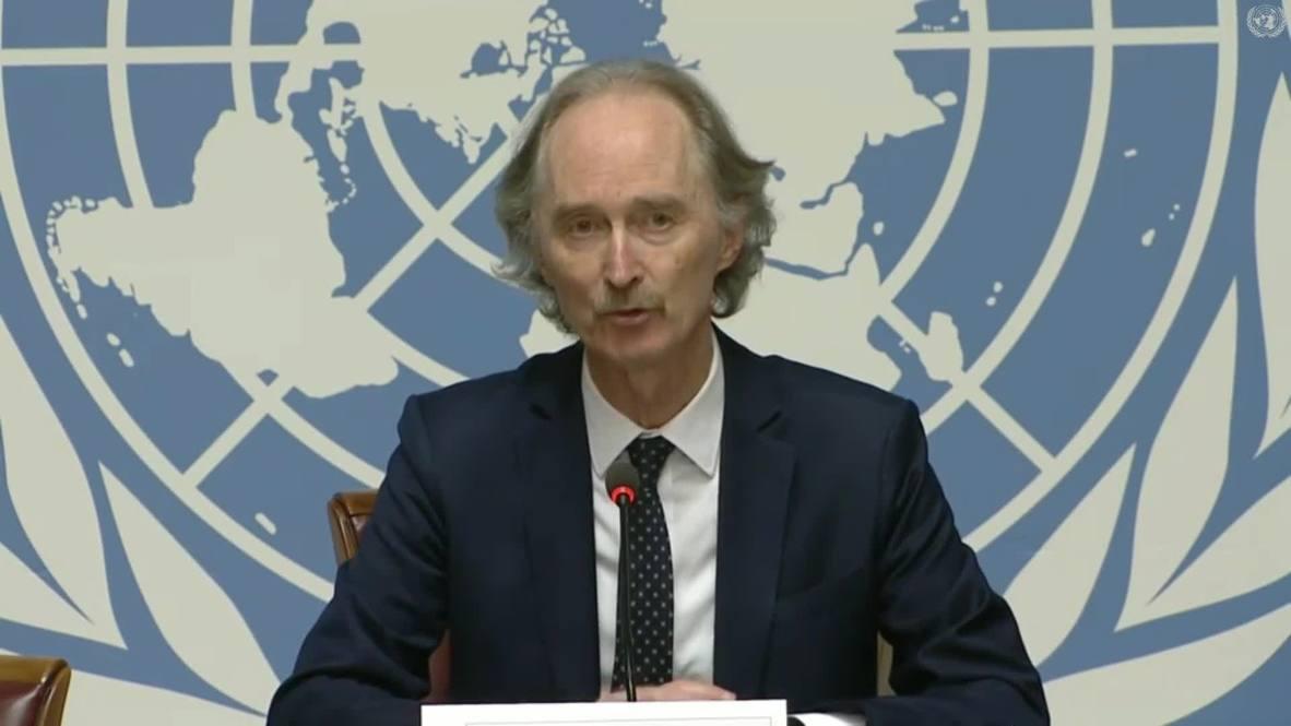 سويسرا: بيدرسن يقول إن اللجنة الدستورية السورية ستجتمع مجددا في 25 نوفمبر