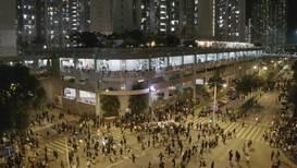 Hong Kong: Protesters hold vigil at car park where student was fatally injured