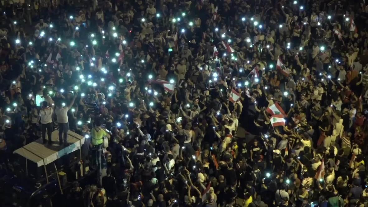Líbano: Manifestaciones antigubernamentales en Beirut entran en su 25º día