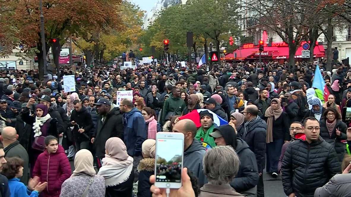 فرنسا : تظاهرة بالآلاف لمناهضة الإسلاموفوبيا في باريس تثير جدلا حادا