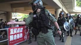 Hong Kong: Protesters block mall escalators, vandalise restaurant