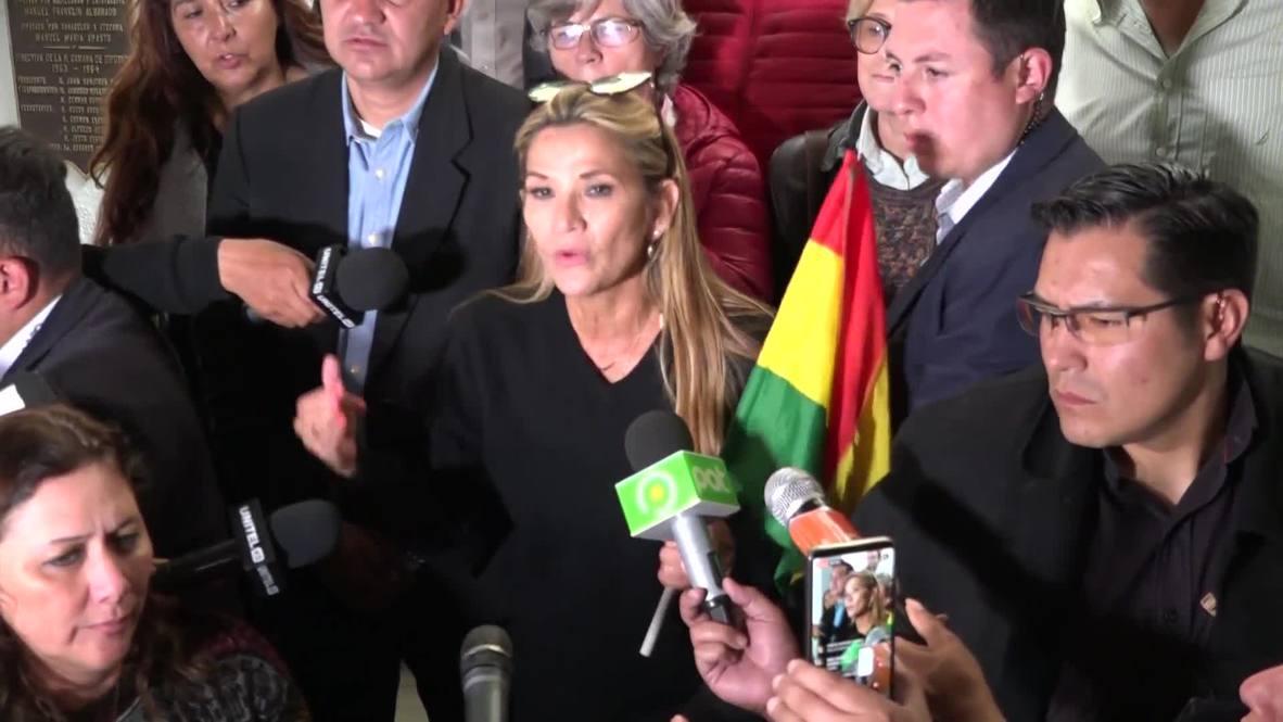 Bolivia: Interim leader Anez calls for elections