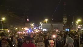 """Латвия: """"Эти бойцы сражались за нашу землю"""". В Риге прошло шествие в честь Дня Лачплесиса"""