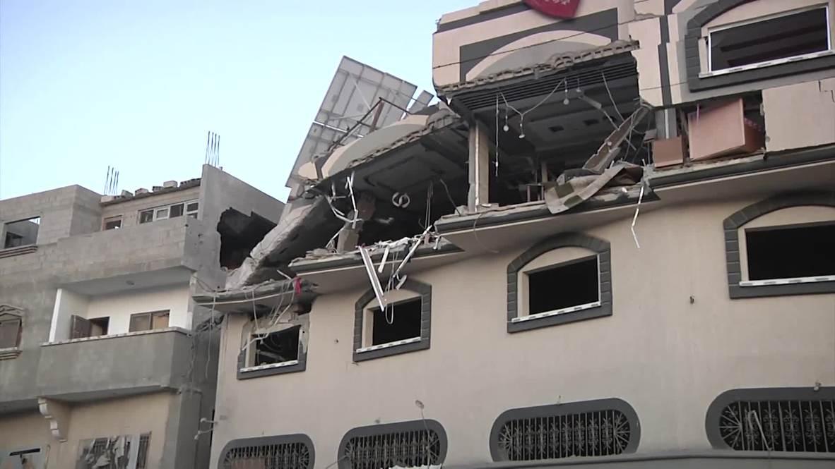State of Palestine: Home left heavily damaged after strike kills Islamic Jihad commander