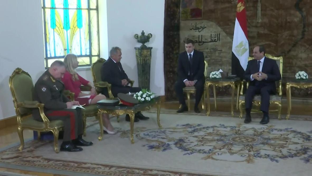 Египет: Шойгу прибыл в Каир с рабочим визитом