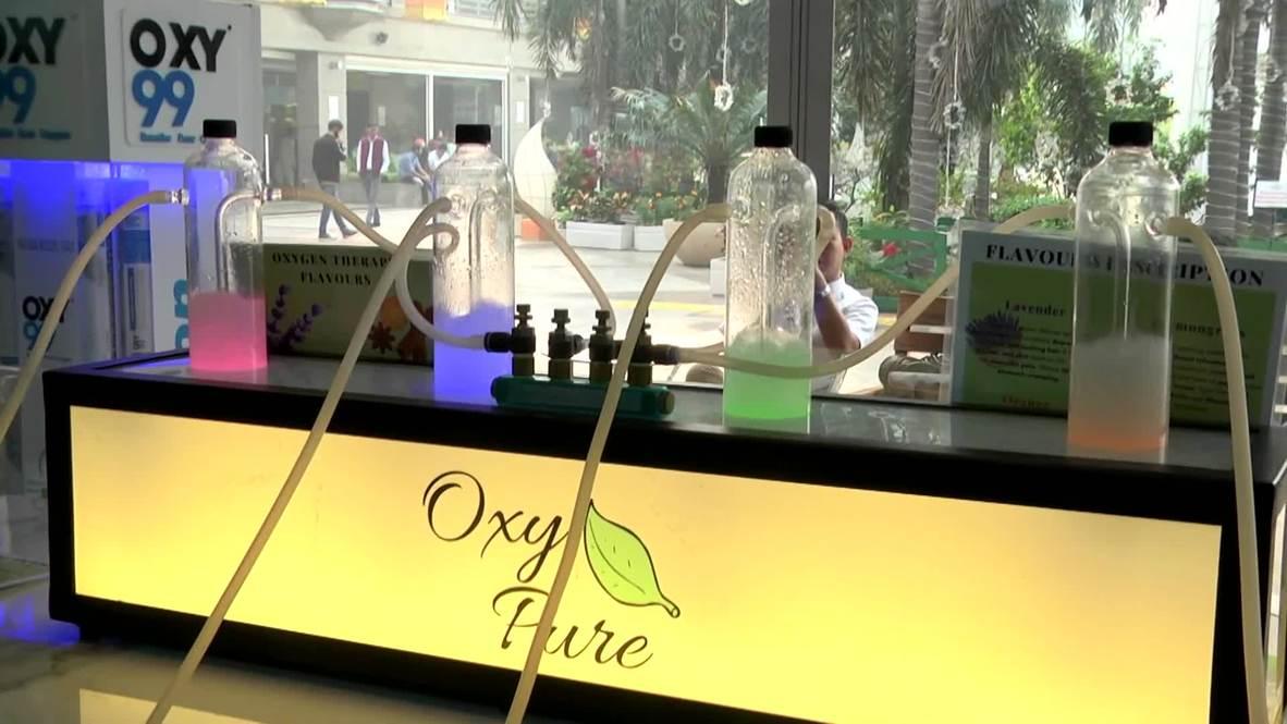 Глоток свежего воздуха. В Нью-Дели появился бар, где можно купить кислород