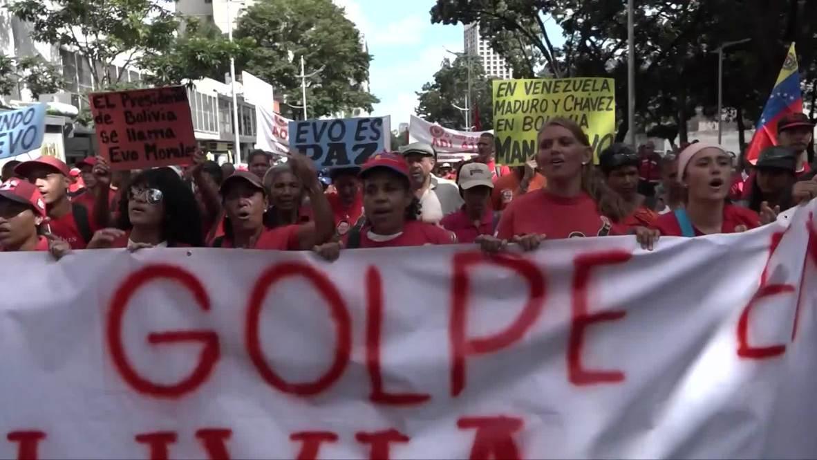 Venezuela: Maduro rejects 'unconstitutional' Bolivia's interim president at pro-Morales rally