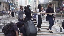 Hong Kong: Financial hub paralysed as anti-govt. protesters set up roadblocks
